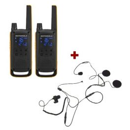 Motorola Talkabout T82 Extreme + 2x Open Helm Headset