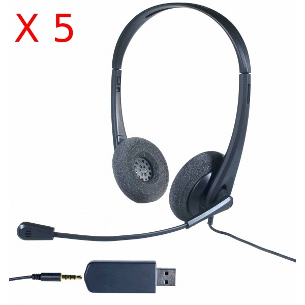 Pack 5 Cleyver HC35-headsets