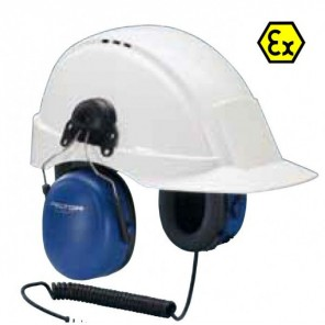 3M Peltor ATEX Listen Only Mono 3.5mm - Helmbevestiging