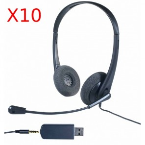 Pack 10 Cleyver HC35-headsets