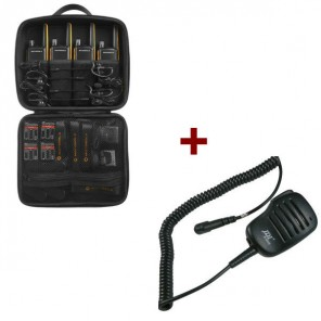 Motorola Talkabout T82 Extreme 4-Pack + 4x Speakermicrofoon