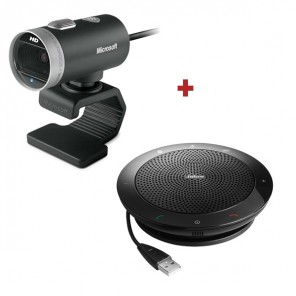 Microsoft Lifecam Cinema Breedbeeld Webcam + Jabra SPEAK 510 Speakerphone