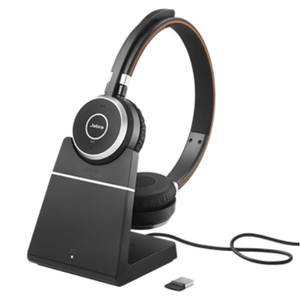 Jabra Evolve 65 UC Stereo with Charging Stand (1)