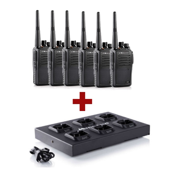Pack 6 Midland G15 + Multi-charger (2)
