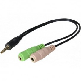Audio Jack Adapter 3,5 mm Double F to single M