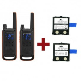 Motorola Talkabout T82 + 2x Spare Batteries