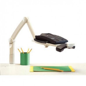 Support arm for desk phones