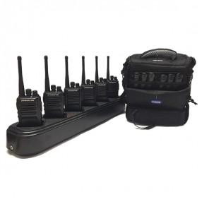 6 Dynascan L88 walkietalkies + charger with 6 positions