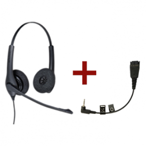 Pack Jabra BIZ 1500 Duo + 2.5 mm QD Cable