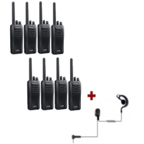 Kenwood TK-3501 - 8 pack + 8 PTT headsets