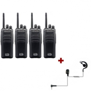 Kenwood TK-3401 - Quadpack + 4 PTT headsets