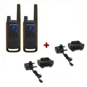 Motorola Talkabout T82 Extreme + 2x Desk Chargers