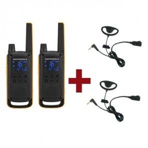 Motorola Talkabout T82 Extreme + 2x D-shaped Headset