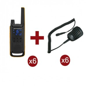 Motorola Talkabout T82 Extreme 6-Pack + 6x Speaker Microphone