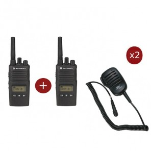 Motorola XT460 2-pack + 2 Speakermics