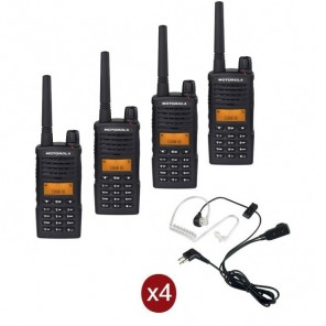 Quad-pack Motorola XT-660 + 4 bodyguard headsets
