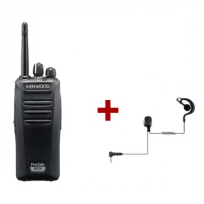 Kenwood TK-3401D with PTT headset