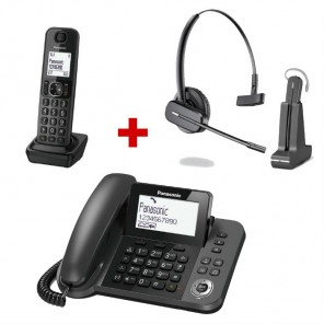 Panasonic KX-TGF310 + Plantronics C565 wireless headset