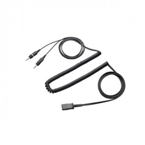 Plantronics QD to Dual 3.5mm Jack Cable for PC