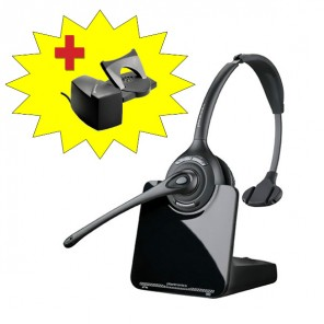 Plantronics CS510 Cordless Headset + Handset Lifter