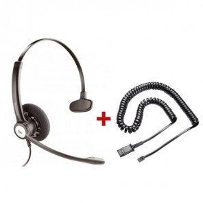 Plantronics Entera HW111N Mono headphones + QD cable