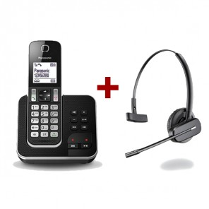 Panasonic KX-TGD320 + Plantronics C565 wireless headset