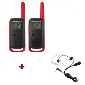 Motorola Talkabout T62 (red) + 2x Bodyguard kit