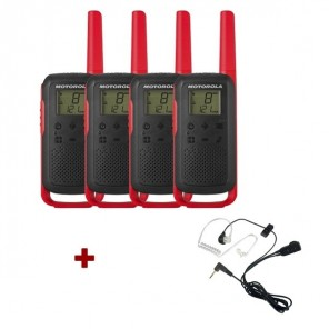 Motorola Talkabout T62 (red) 4-Pack + 4x Bodyguard kit