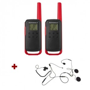 Motorola Talkabout T62 (red) + 2x Open Face Helmet earpiece