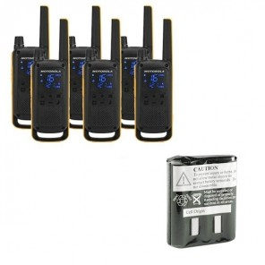Motorola Talkabout T82 Extreme 6-Pack + 6x Spare Batteries